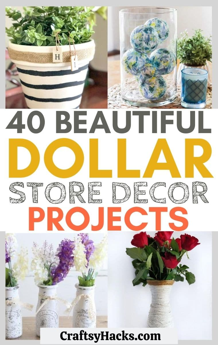 40 Dollar Store Home Decor Projects Craftsy Hacks