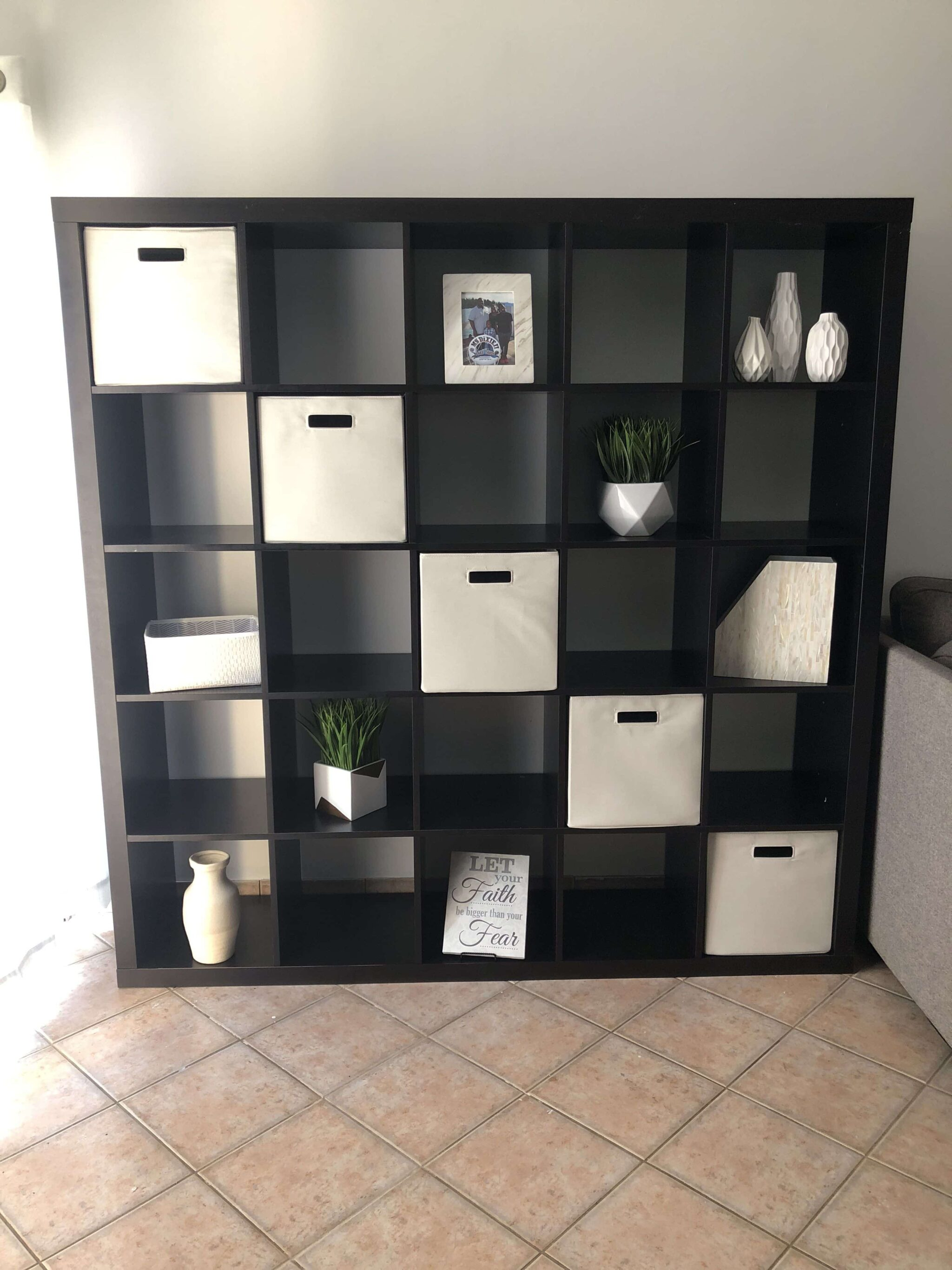 Black and White Storage Unit