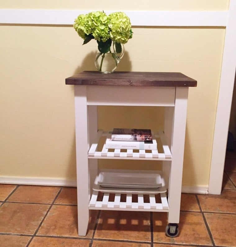 Farmhouse Style Kitchen Cart