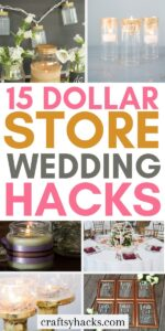 dollar store wedding hacks