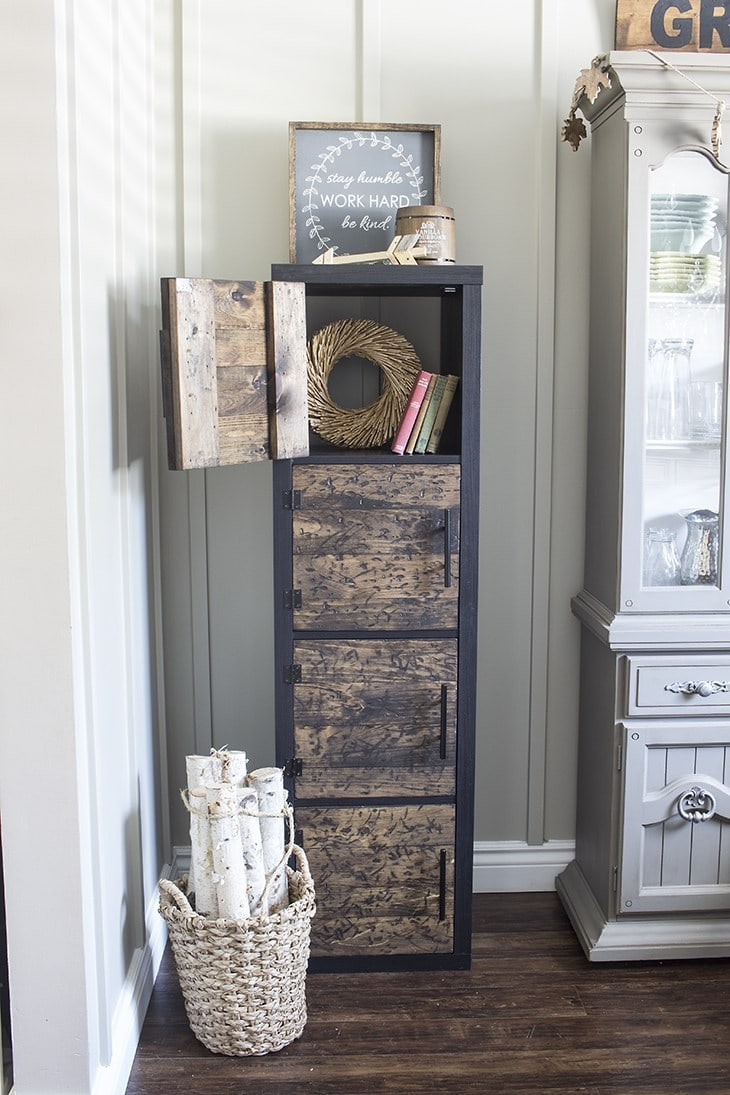 Rustic Shelving Unit with Doors