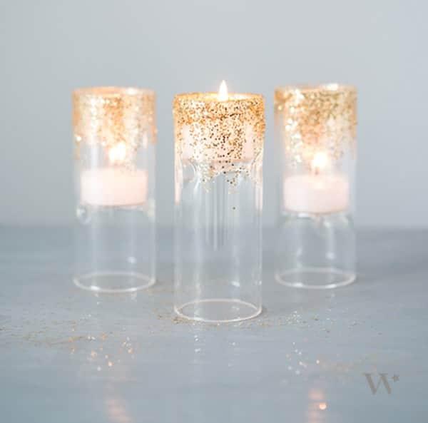 Glittered Candleholder