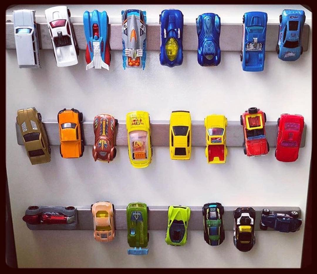 Magnetic Knife Strip to Park Toy Cars