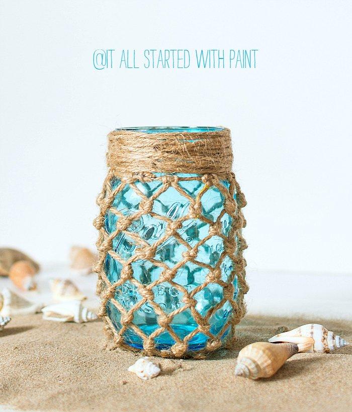 Fishnet Mason Jar