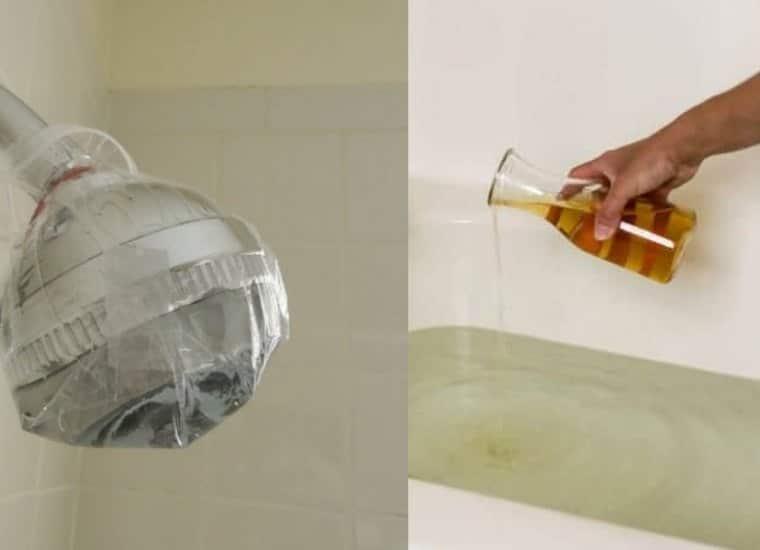 tricks to clean bathroom