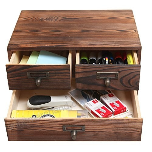 Rustic Wood Storage Box