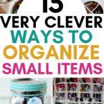 organize small items