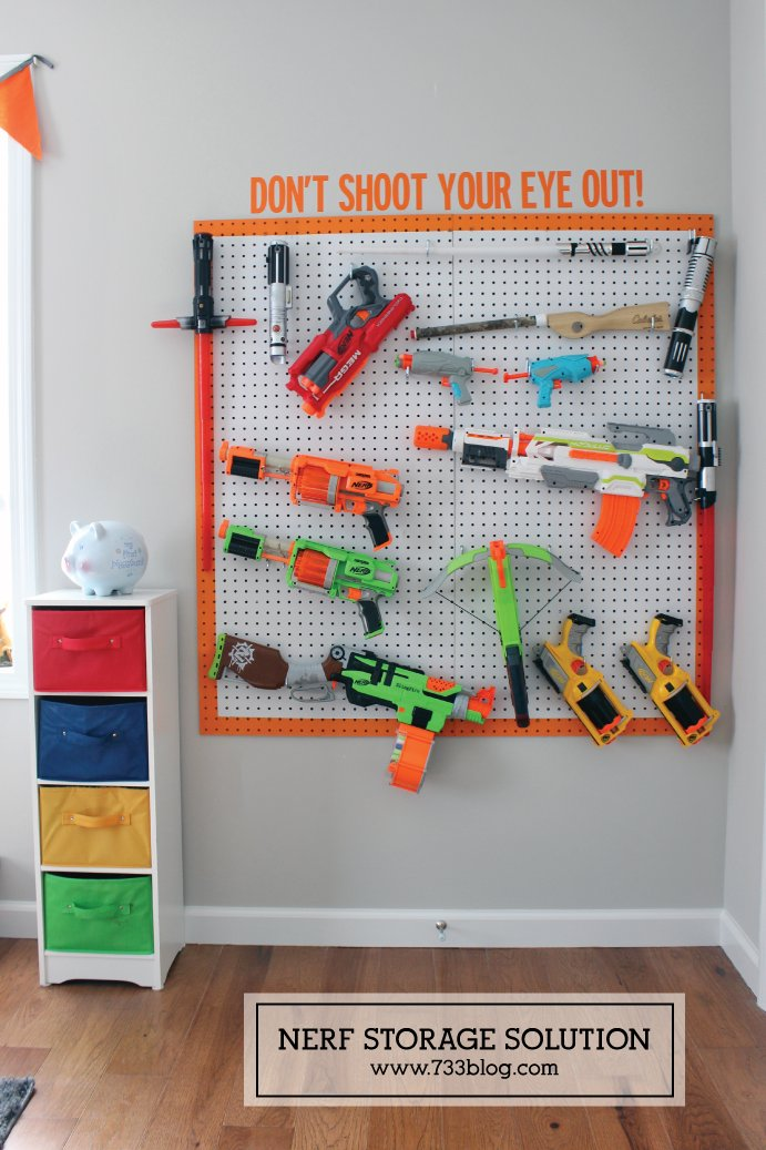 Pegboard Toy Display