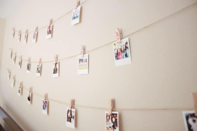 Fairy Light Polaroid Display