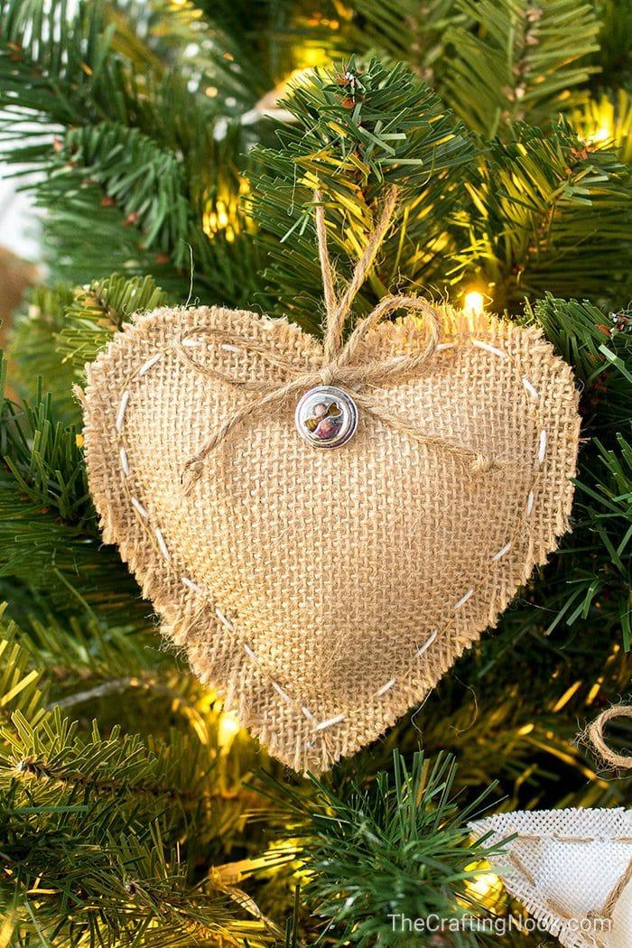 Rustic Burlap Ornaments