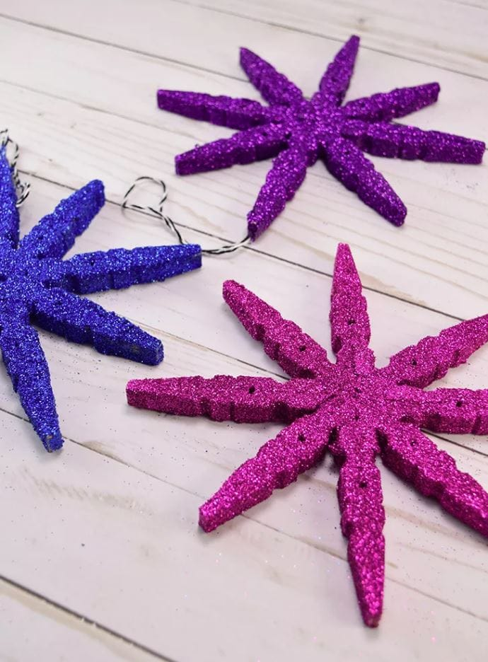 Homemade Clothespin Snowflake