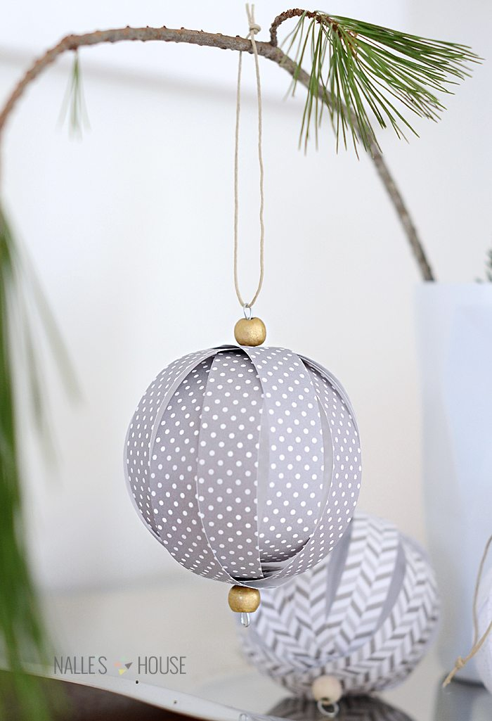 Paper Lantern Ball Ornaments