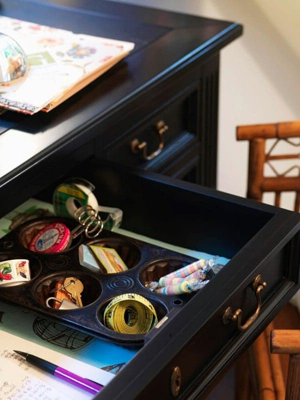 Muffin Tin into Drawers