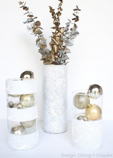 Frosty Vase Display
