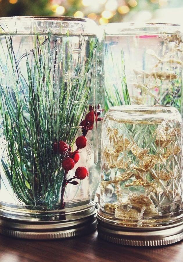 Mason Jar Underwater Forest