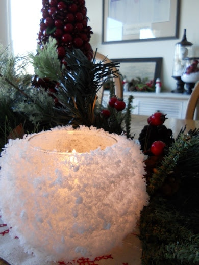 Snowball Candle Holder