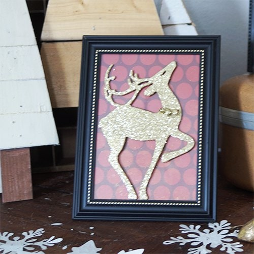 Framed Reindeer Silhouette