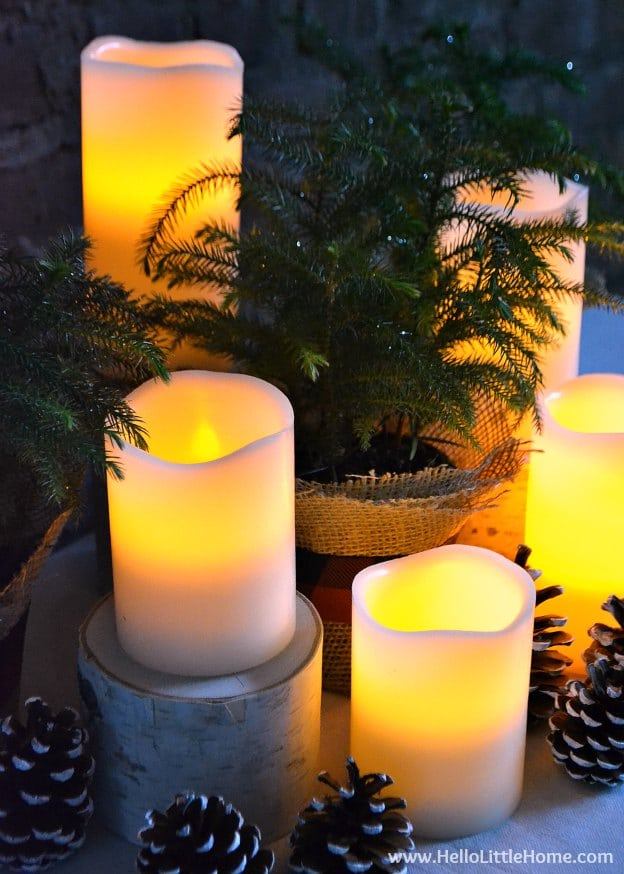 festive burlap arrangement