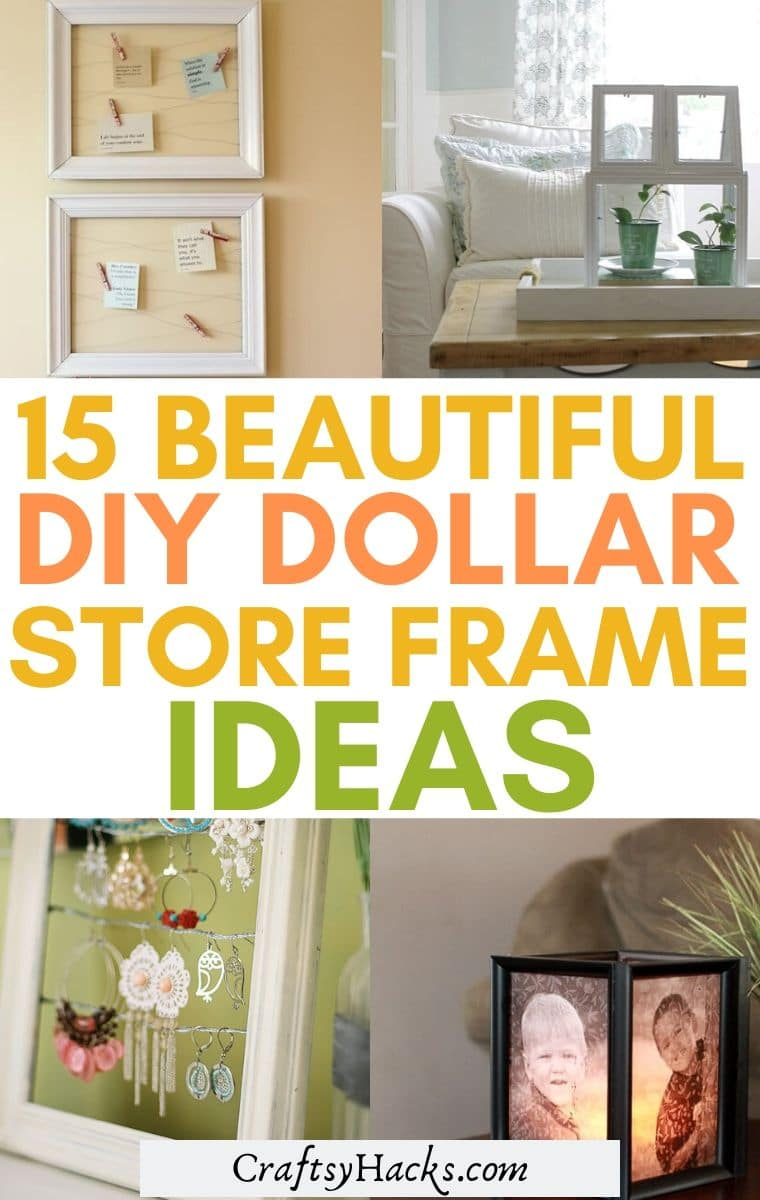 dollar store frame ideas