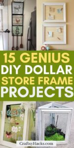diy dollar store frame crafts