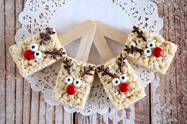 Reindeer Rice Krispie Snacks