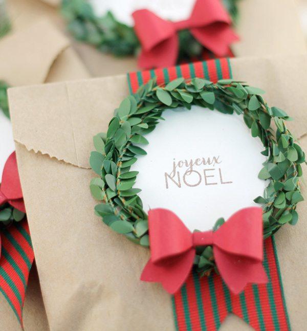 mini wreath tags