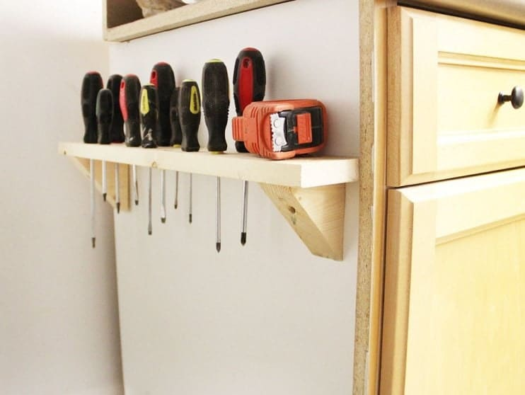 DIY Screwdriver Rack