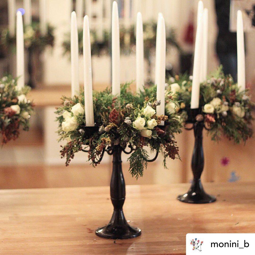 candelabra floral display