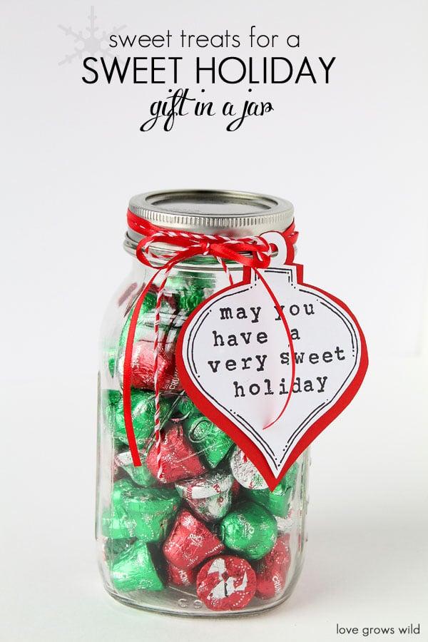 christmas candy mason jar