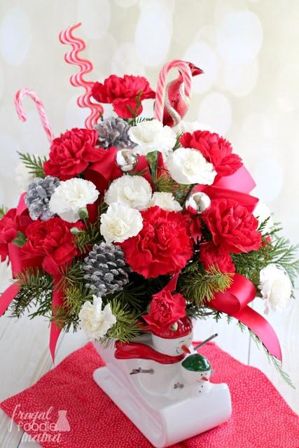 festive flower display