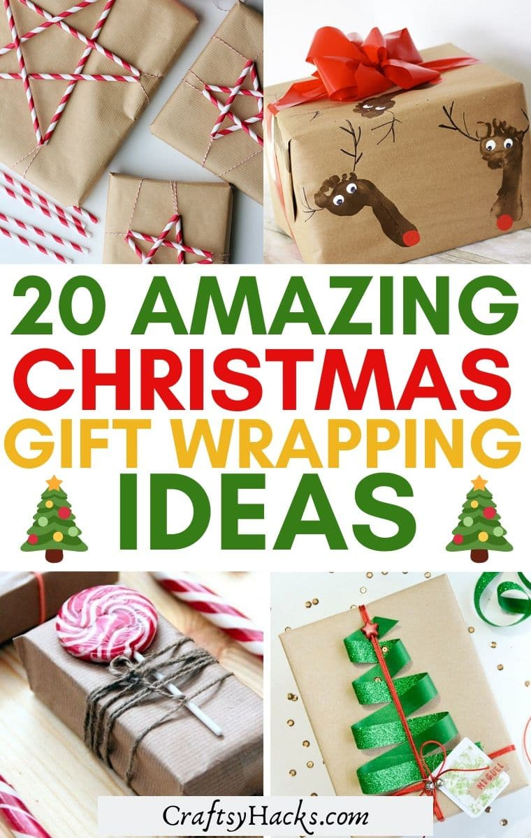 pretty gift wrapping christmas