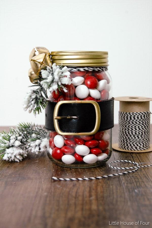 santa belt jar