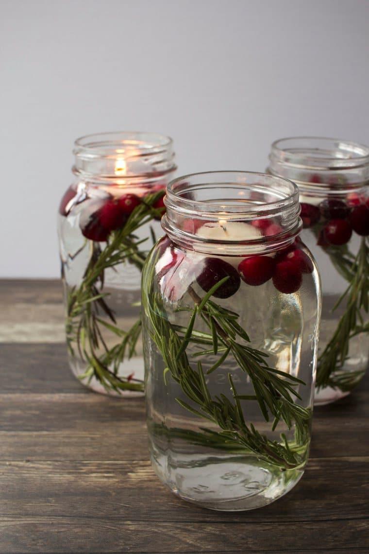 mason jar candle display