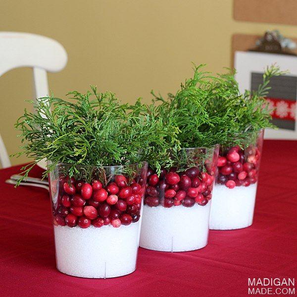 mini cranberry vase