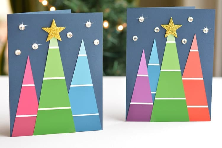 Paint Chip Christmas Cards