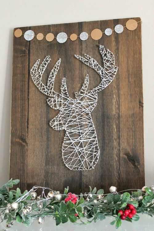 Rustic Reindeer String Art