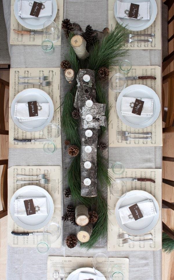 pine cone dining set