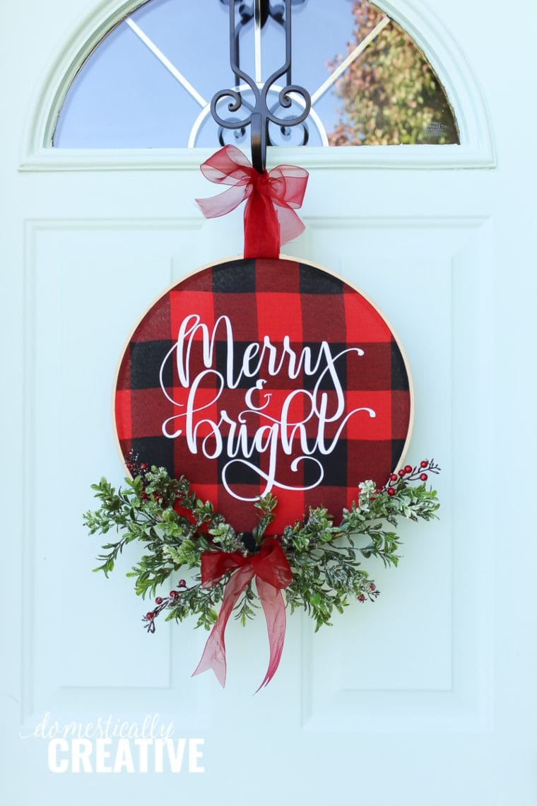 buffalo plaid wreath