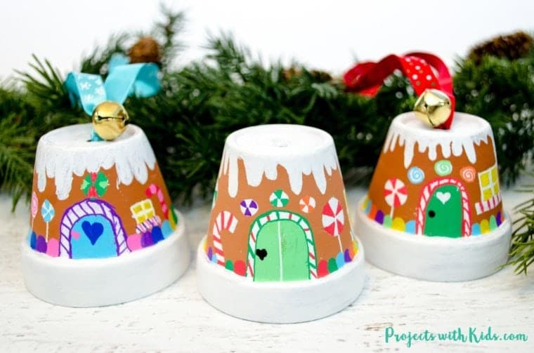 Plant Pot Gingerbread House Ornament