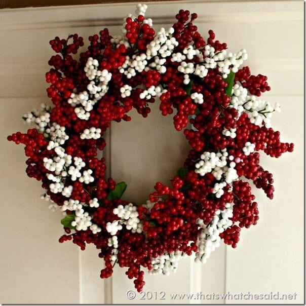 festive berry wreath