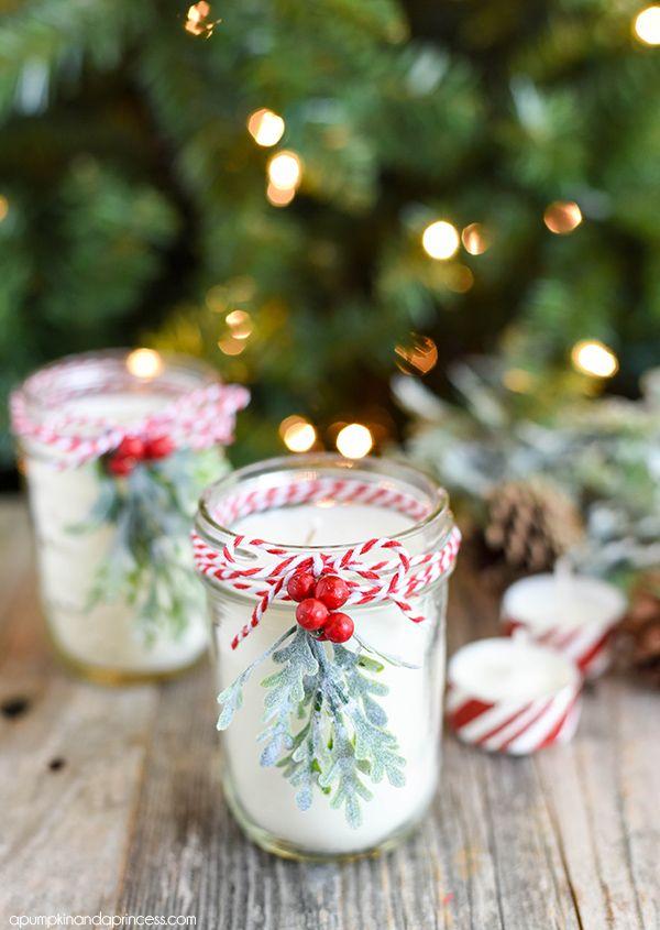 peppermint mason jar candle