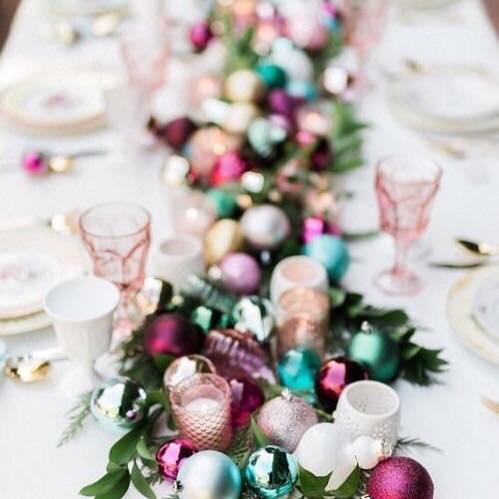 colorful ornament arrangement