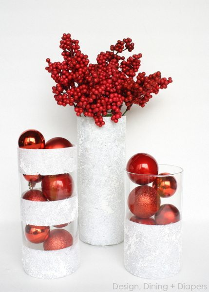 Frosted Vase Centerpiece