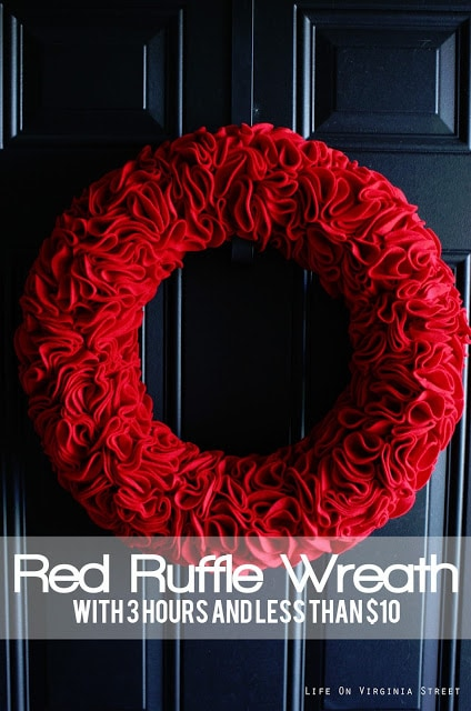 felt ruffle wreath