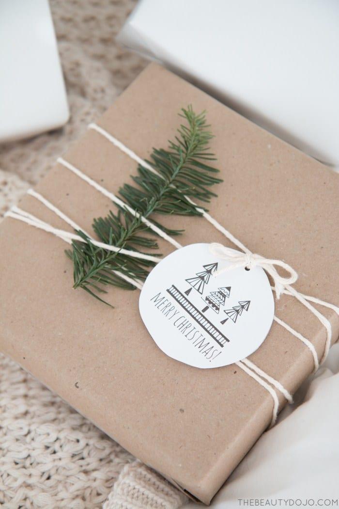 scandinavian gift tags