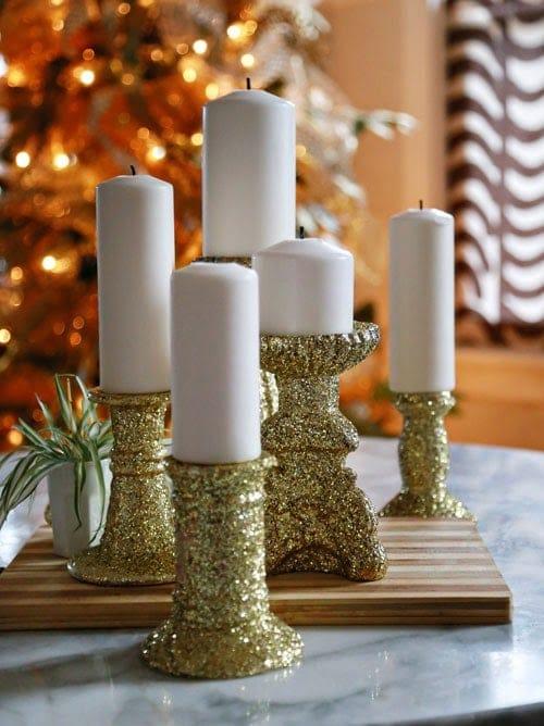 Glittery Candleholders