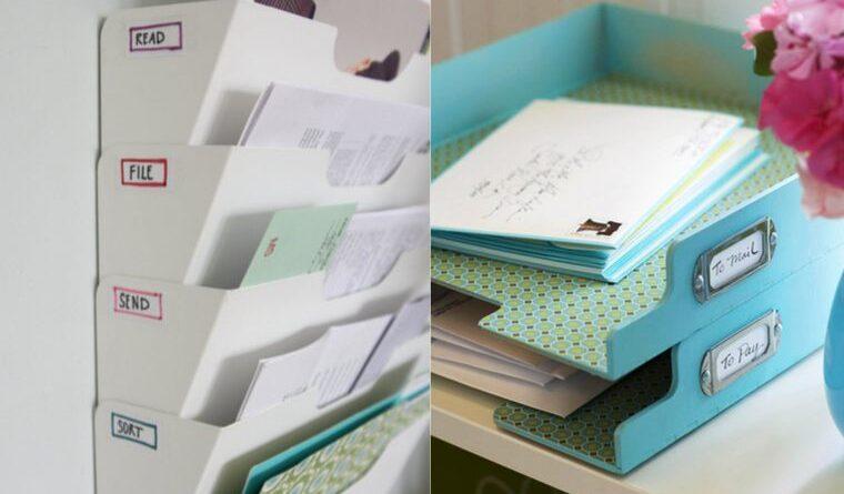 organize paper clutter