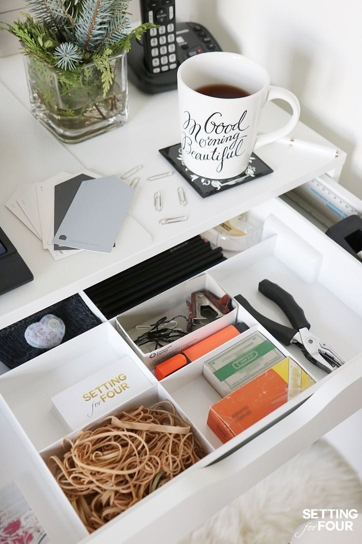 Organizing Your Desk Drawers