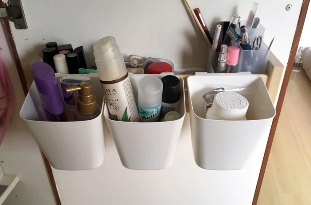 Back-of-Door Makeup Organizer