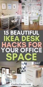 ikea desk hacks